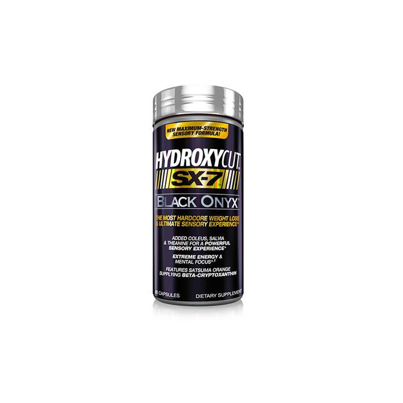 Hydroxycut SX-7 Black Onyx 80 cápsulas Mucletech – CBDeportes